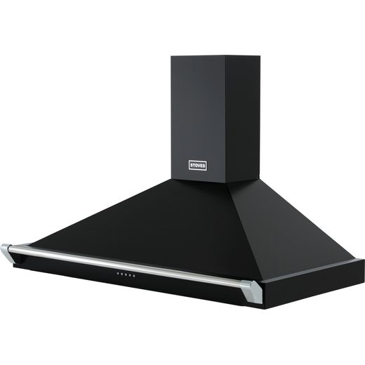 Stoves S1000 RICH CHIM RAIL 100 cm Chimney Cooker Hood - Black - A Rated