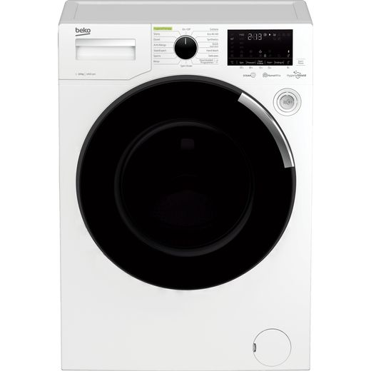 Beko WEY104064TW 10Kg Washing Machine with 1400 rpm - White - B Rated
