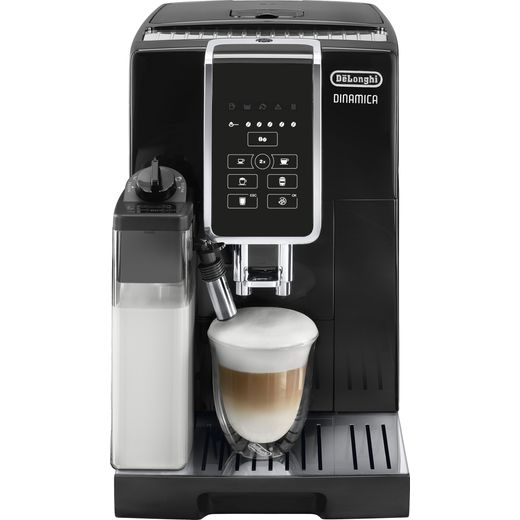 De'Longhi Dinamica ECAM350.50.B Bean to Cup Coffee Machine with One Touch Cappuccino, Automatic Milk and Automatic Clean - Black