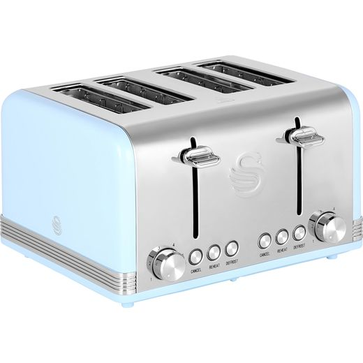 Swan Retro ST19020BLN 4 Slice Toaster - Blue
