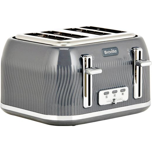 Breville Flow Collection VTT892 4 Slice Toaster - Grey