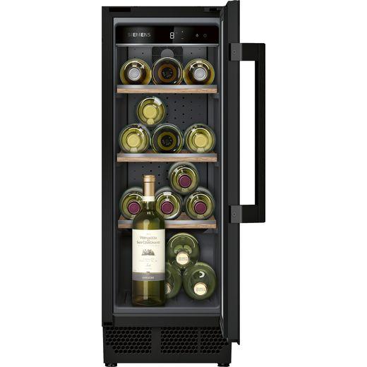 Siemens IQ-500 KU20WVHF0G Built In Wine Cooler - Black - F Rated