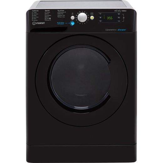 Indesit BDE861483XKUKN 8Kg / 6Kg Washer Dryer with 1400 rpm - Black - D Rated