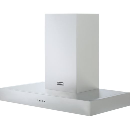 Stoves S900 STER FLAT 90 cm Chimney Cooker Hood - Stainless Steel - A Rated