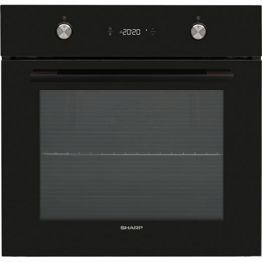 Sharp K-61P27BNM-EN Built In Electric Single Oven - Black - A Rated
