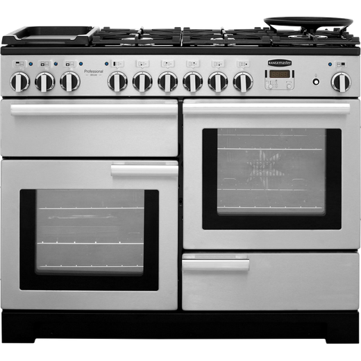 Rangemaster Professional Deluxe PDL110DFFSS/C 110cm Dual Fuel Range Cooker - Stainless Steel - A/A Rated