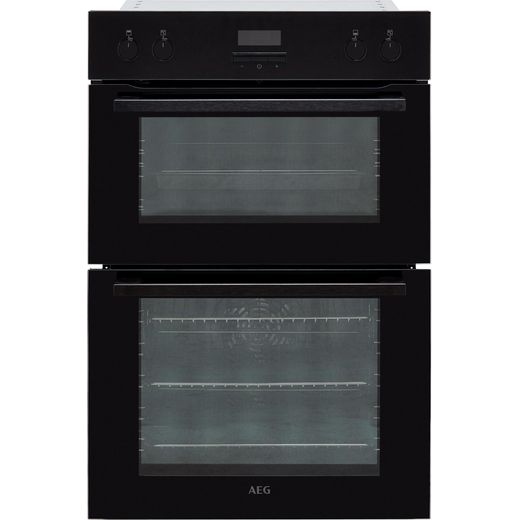 AEG DEE431010B Built In Electric Double Oven - Black - A/A Rated