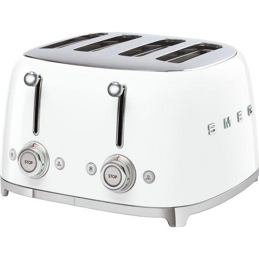 Smeg 50's Retro TSF03WHUK 4 Slice Toaster - White