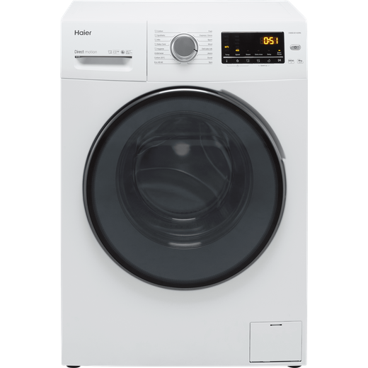 Haier HW80-B1439N 8Kg Washing Machine with 1400 rpm - White - A Rated