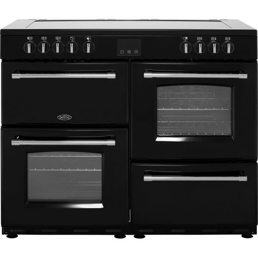 Belling Farmhouse110E 110cm Electric Range Cooker with Ceramic Hob - Black - A/A Rated