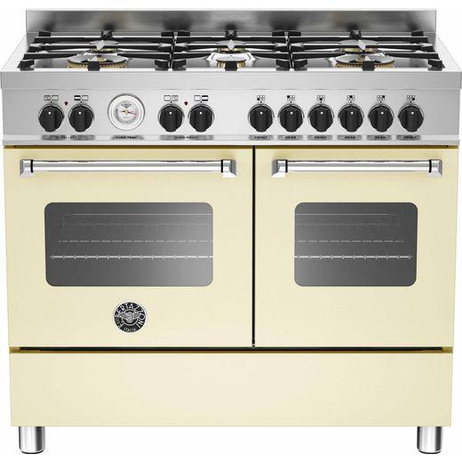 Bertazzoni Master Series MAS100-6-MFE-D-CRE 100cm Dual Fuel Range Cooker - Cream - A/A Rated