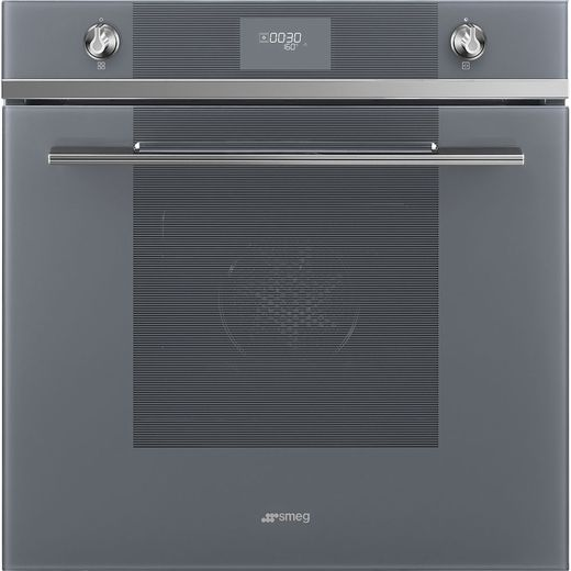 Smeg Linea SFP6101TVS1 Built In Electric Single Oven - Silver - A+ Rated