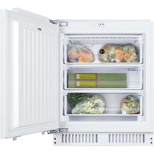 Hoover HBFUP130NK/N Integrated Under Counter Freezer with Fixed Door Fixing Kit - A+ Rated