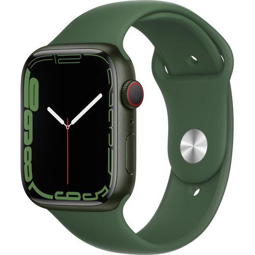 Apple Watch Series 7, 45mm, GPS + Cellular [2021] - Green Aluminium Case with Clover Sport Band