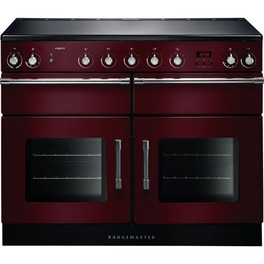 Rangemaster Esprit ESP110EICY/C 110cm Electric Range Cooker with Induction Hob - Cranberry - A/A Rated