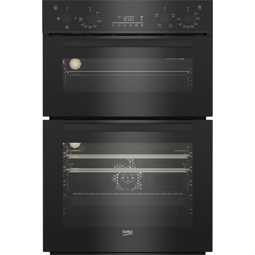 Beko BBDF22300B Built In Electric Double Oven - Black - A/A Rated