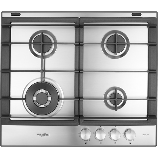 Whirlpool W Collection GMW6422/IXL Built In Gas Hob - Stainless Steel