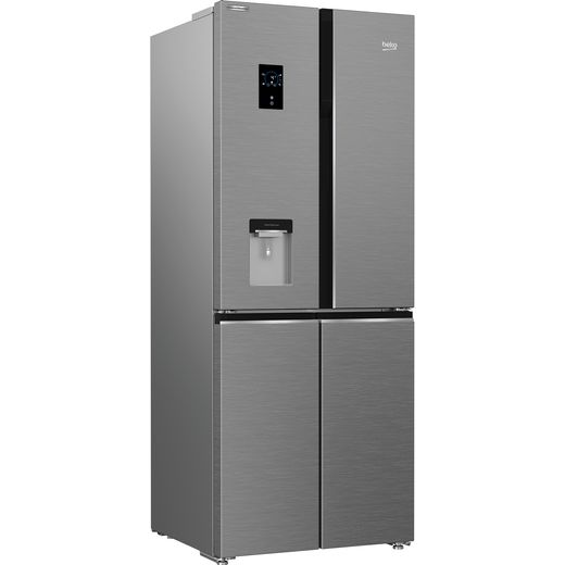 Beko HarvestFresh GNE480EC3DVX American Fridge Freezer - Stainless Steel - F Rated