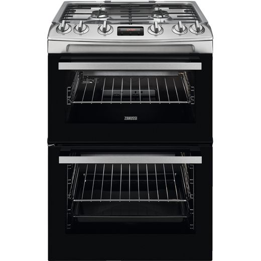 Zanussi ZCG63260XE Gas Cooker with Full Width Electric Grill - Stainless Steel - A/A Rated