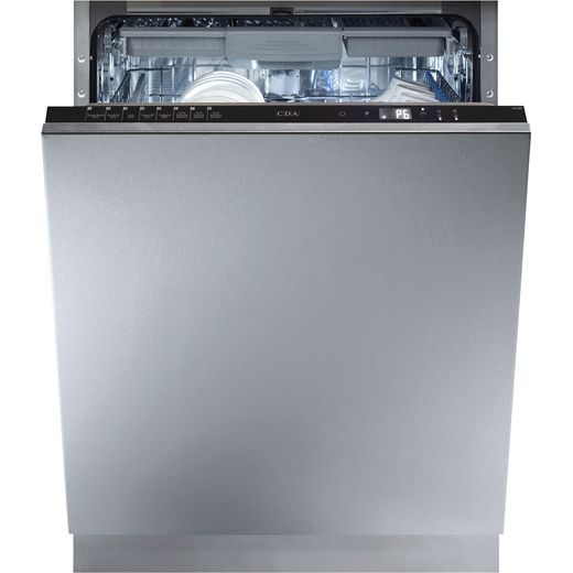 CDA WC680 Fully Integrated Standard Dishwasher - Black Control Panel with Fixed Door Fixing Kit - G Rated