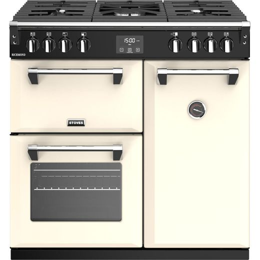 Stoves Richmond S900G 90cm Gas Range Cooker with Electric Fan Oven - Cream - A/A Rated