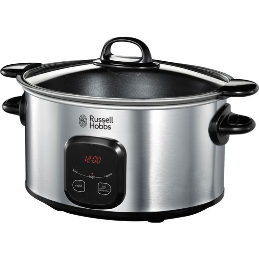 Russell Hobbs MaxiCook 22750 6 Litre Slow Cooker - Stainless Steel
