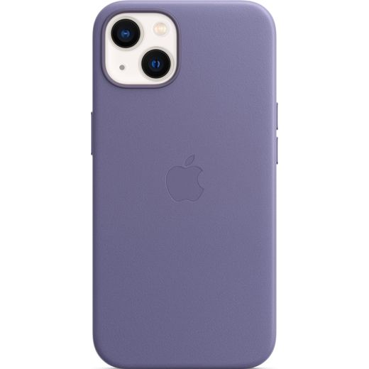 Apple Leather Case with Magsafe for iPhone 13 - Wisteria