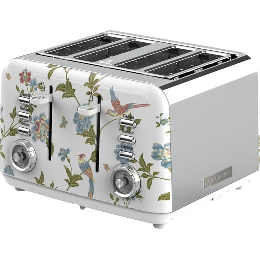 Tower Laura Ashley VQSBT583WSUK 4 Slice Toaster - White / Silver
