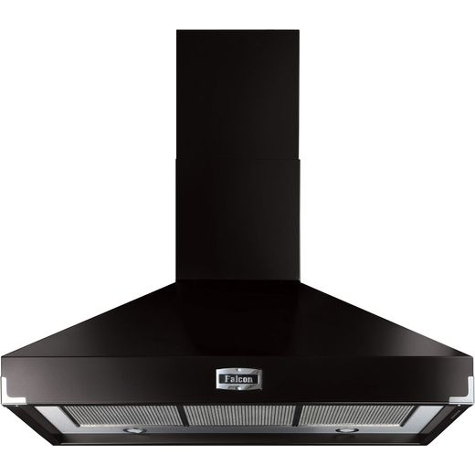 Falcon FHDSE1092BL/C 110 cm Chimney Cooker Hood - Black - A Rated