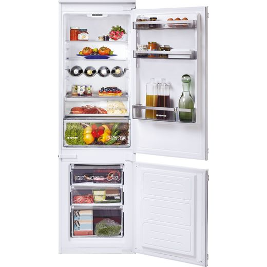Hoover HBBS100UK/N Integrated Frost Free Fridge Freezer with Door slider Kit - White - F Rated