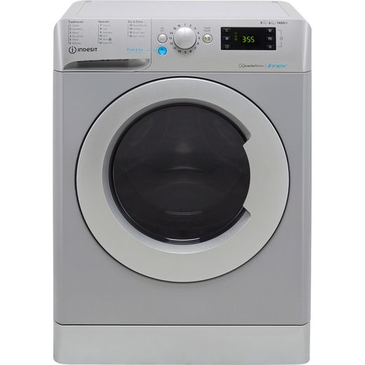 Indesit BDE861483XSUKN 8Kg / 6Kg Washer Dryer with 1400 rpm - Silver - D Rated