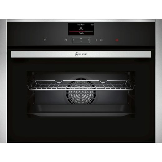 NEFF N90 C27CS22H0B Wifi Connected Built In Compact Electric Single Oven - Stainless Steel - A+ Rated