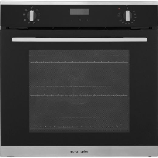 Rangemaster RMB608BL/SS Built In Electric Single Oven - Black - A Rated