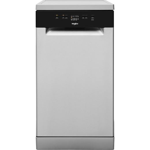 Whirlpool WSFE2B19XUKN Slimline Dishwasher - Stainless Steel - A+ Rated