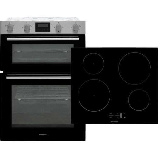 Hisense BI6095IXUK Built In Electric Double Oven - Stainless Steel / Black