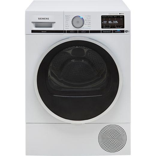 Siemens IQ-700 WT48XEH9GB Heat Pump Tumble Dryer - White