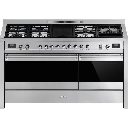 Smeg Opera A5-81 150cm Dual Fuel Range Cooker - Stainless Steel - A/A Rated