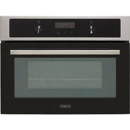 Zanussi ZVENM7X1 Built In Compact Electric Single Oven with Microwave Function - Stainless Steel