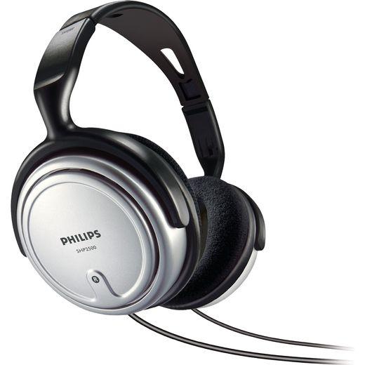 Philips Indoor Corded TV Over-Ear Headphones - Black