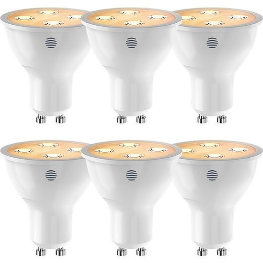 Hive Active Light GU10 White 6 Pack - A+ Rated