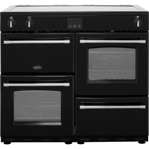 Belling Farmhouse100Ei 100cm Electric Range Cooker with Induction Hob - Black - A/A Rated