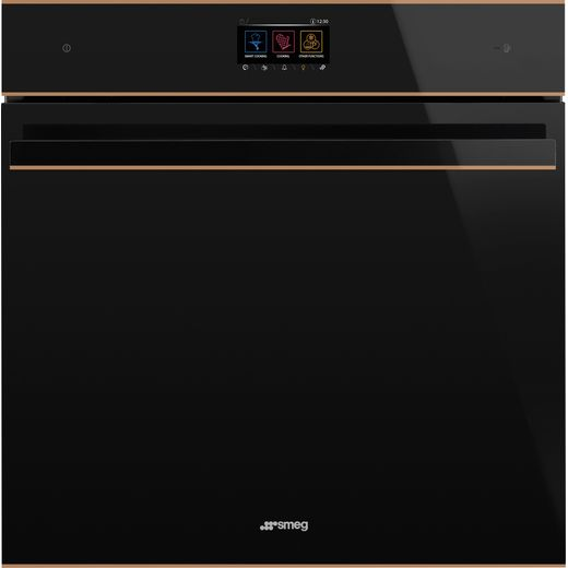 Smeg Dolce Stil Novo SFP6604WTPNR Wifi Connected Built In Electric Single Oven - Black / Copper - A+ Rated