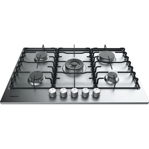 Hotpoint PPH75PDFIXUK Built In Gas Hob - Silver