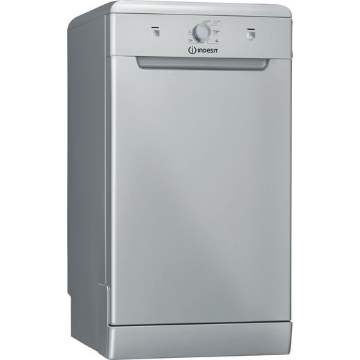 Indesit DSFE1B10SUKN Slimline Dishwasher - Silver - F Rated