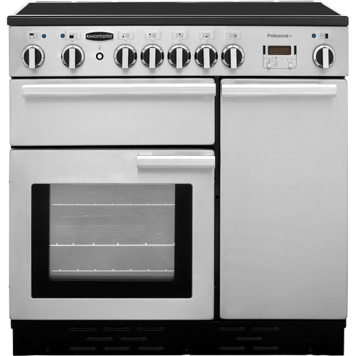 Rangemaster Professional Plus PROP90ECSS/C 90cm Electric Range Cooker with Ceramic Hob - Stainless Steel - A/A Rated