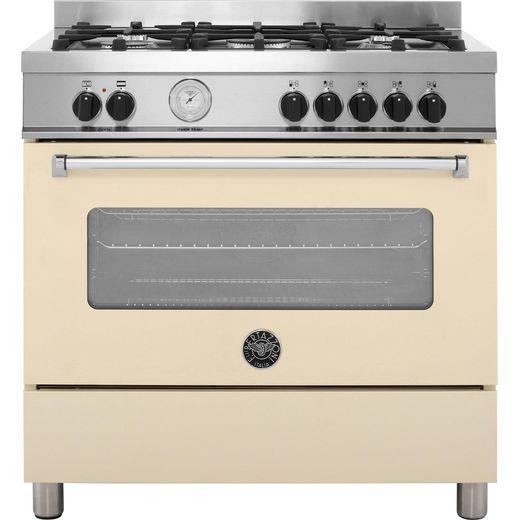 Bertazzoni Master Series MAS90-5-MFE-S-CRE 90cm Dual Fuel Range Cooker - Cream - A Rated