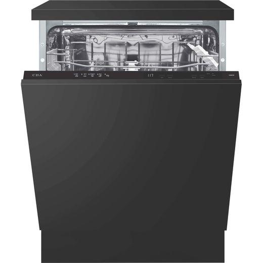 CDA CDI6121 Fully Integrated Standard Dishwasher - Black Control Panel - E Rated