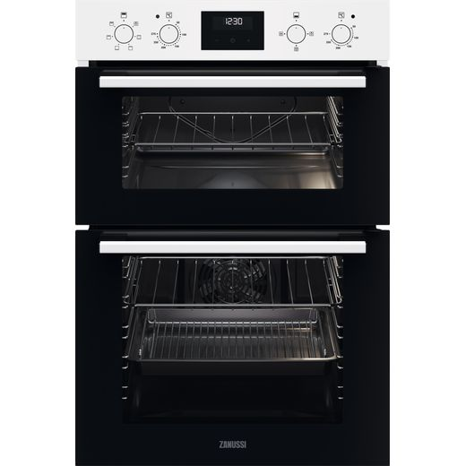 Zanussi ZKHNL3W1 Built In Electric Double Oven - White - A/A Rated