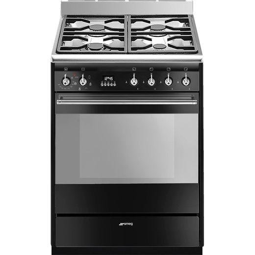 Smeg Concert SUK61MBL9 60cm Dual Fuel Cooker - Black - A Rated