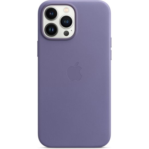 Apple Leather Case for iPhone 13 Pro Max - Wisteria